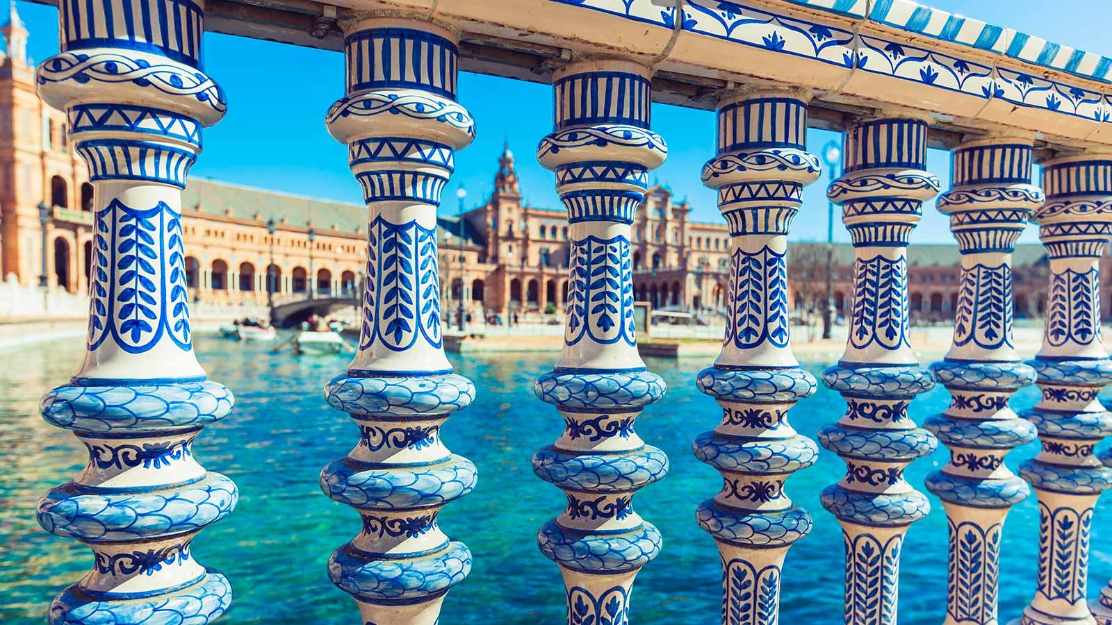 Sevilla Balaustrada plaza España | viajar a Sevilla