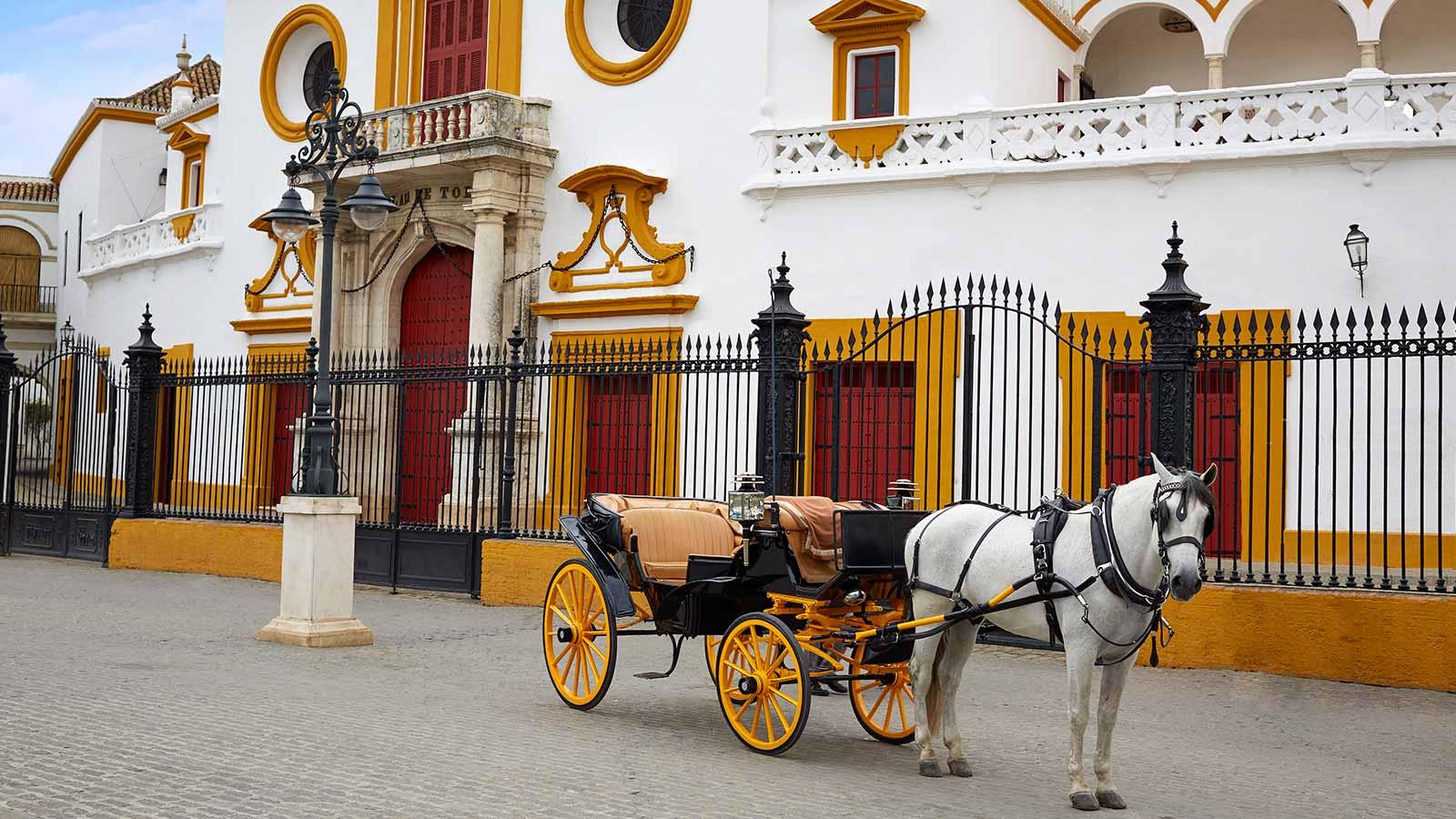 Viajar a sevilla en carro de caballos